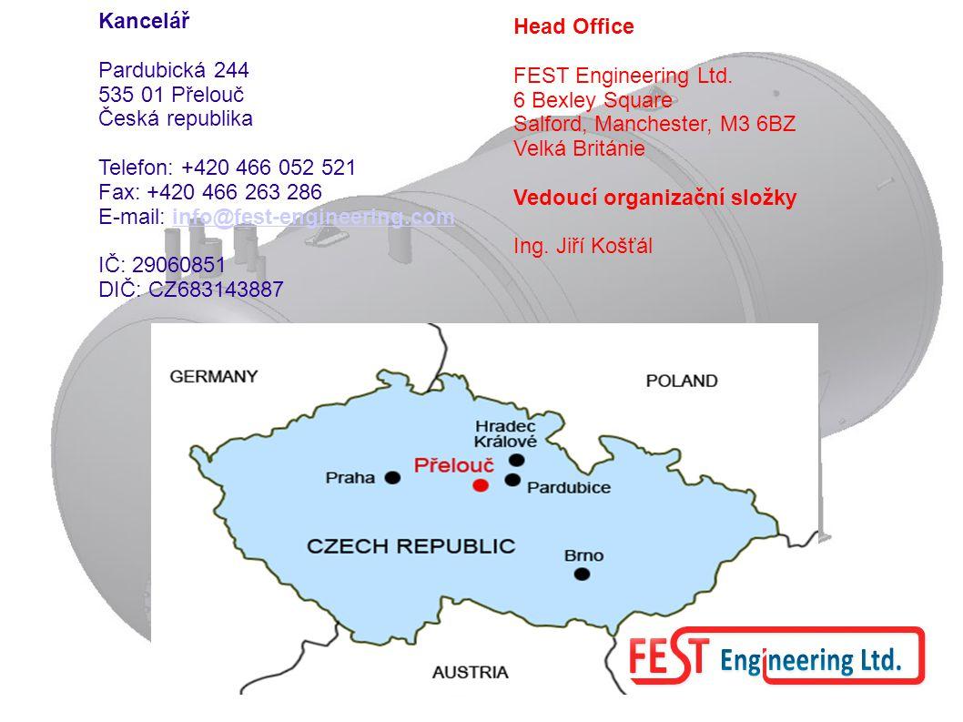 Kancelář Pardubická 244. 535 01 Přelouč. Česká republika. Telefon: +420 466 052 521. Fax: +420 466 263 286.