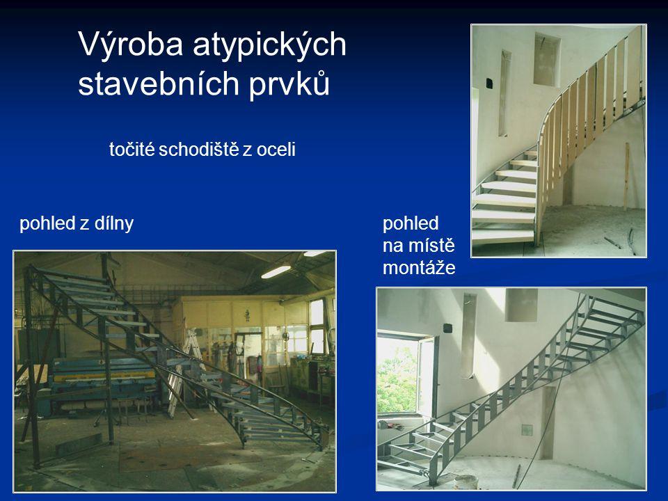 Výroba atypických stavebních prvků