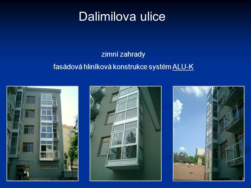 fasádová hliníková konstrukce systém ALU-K