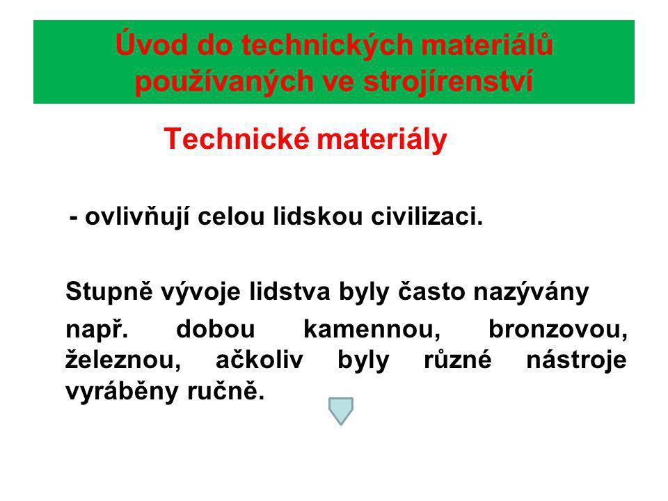 Úvod do technických materiálů používaných ve strojírenství