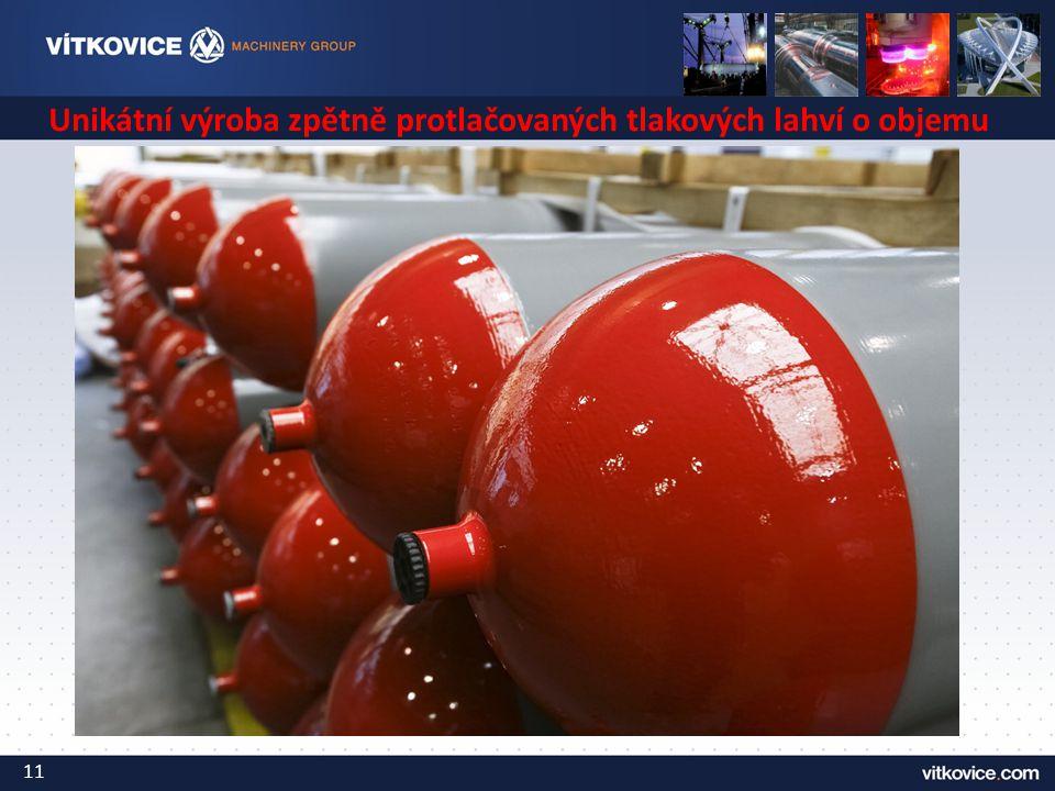 Unikátní výroba zpětně protlačovaných tlakových lahví o objemu 200l