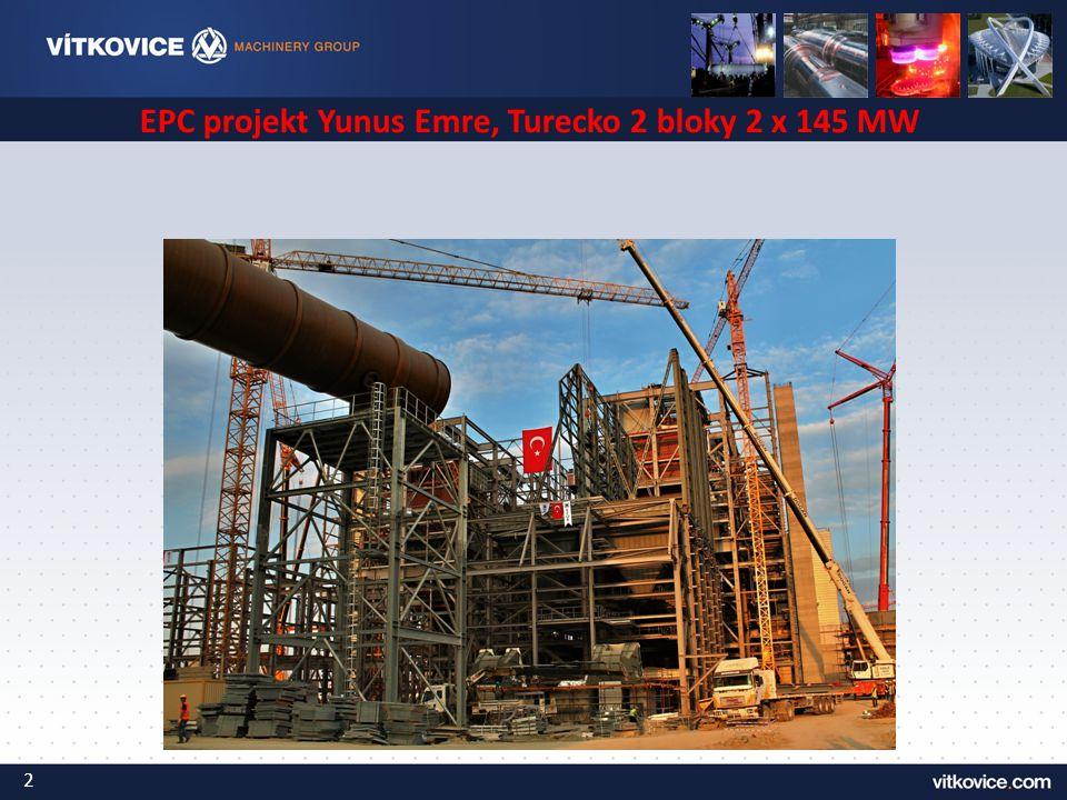EPC projekt Yunus Emre, Turecko 2 bloky 2 x 145 MW