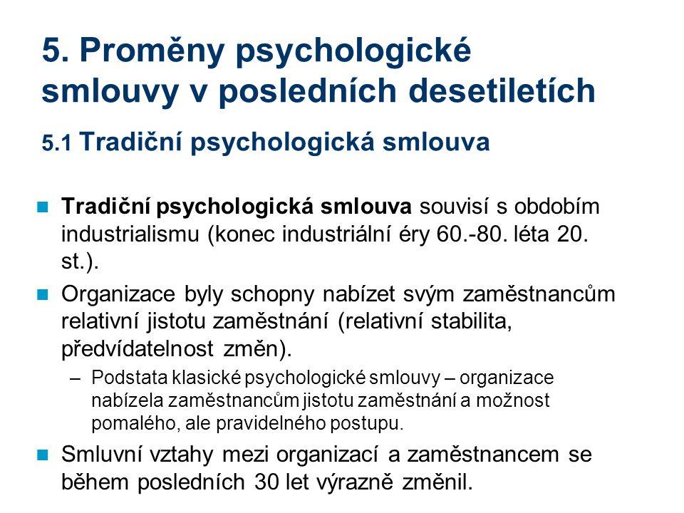 5. Proměny psychologické smlouvy v posledních desetiletích 5