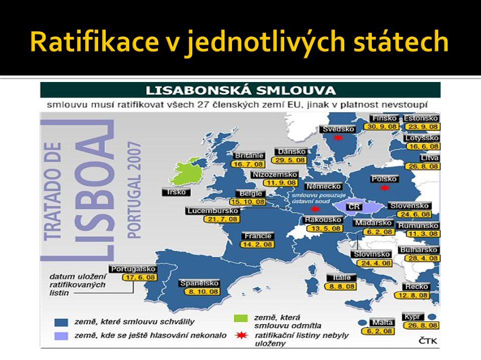 Ratifikace v jednotlivých státech