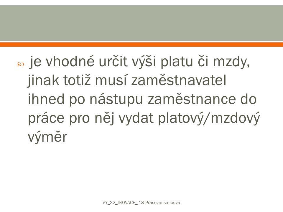 VY_32_INOVACE_ 18 Pracovní smlouva