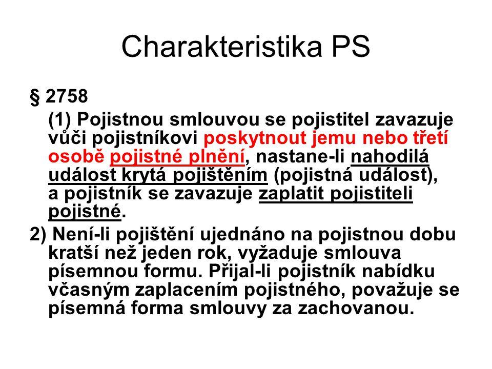 Charakteristika PS § 2758.