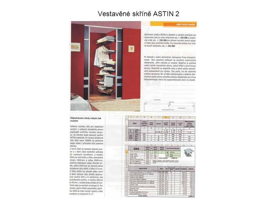 Vestavěné skříně ASTIN 2