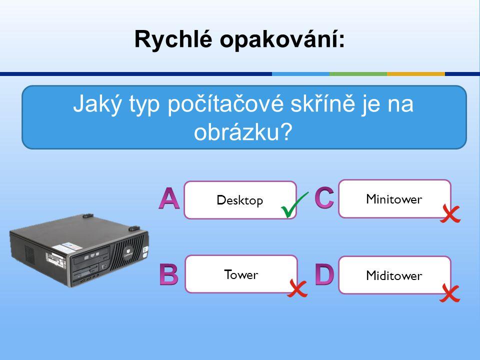 Jaký typ počítačové skříně je na obrázku