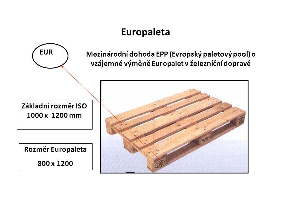 Základní rozměr ISO 1000 x 1200 mm