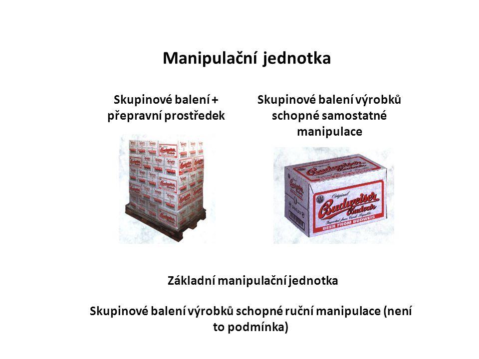 Manipulační jednotka Skupinové balení + přepravní prostředek