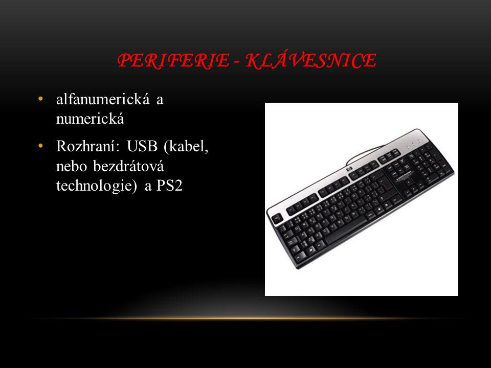 Periferie - klávesnice