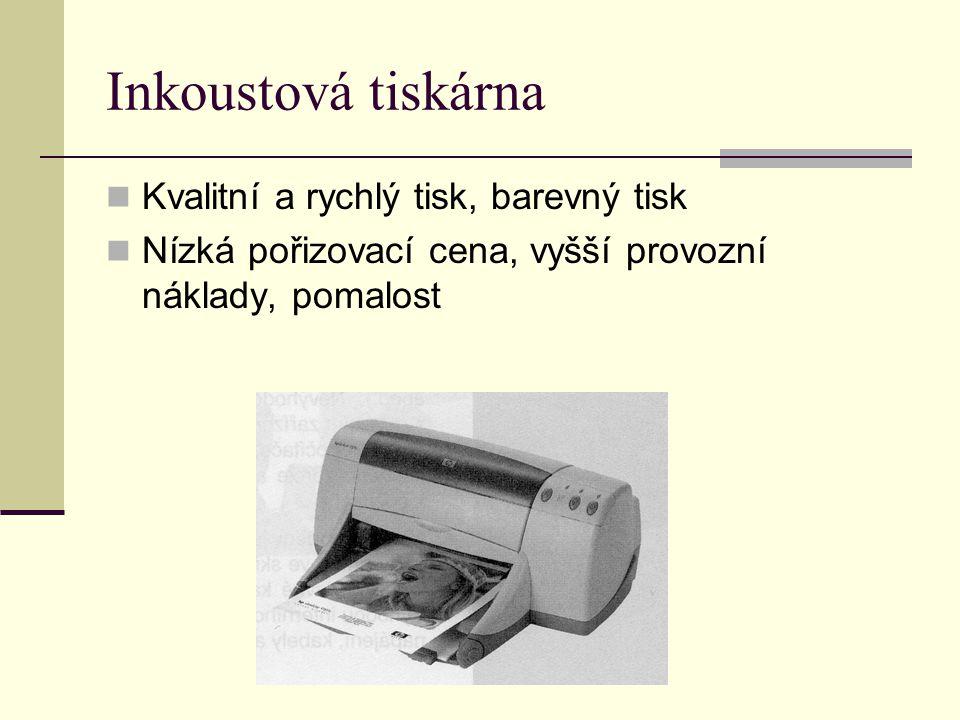 Inkoustová tiskárna Kvalitní a rychlý tisk, barevný tisk