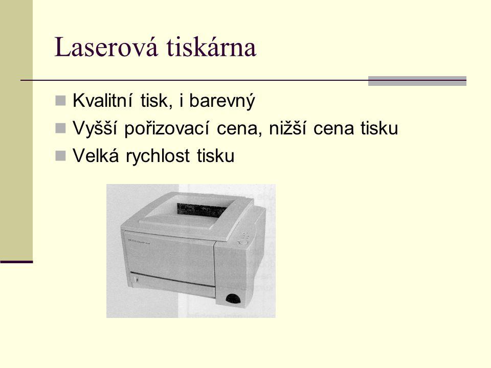 Laserová tiskárna Kvalitní tisk, i barevný