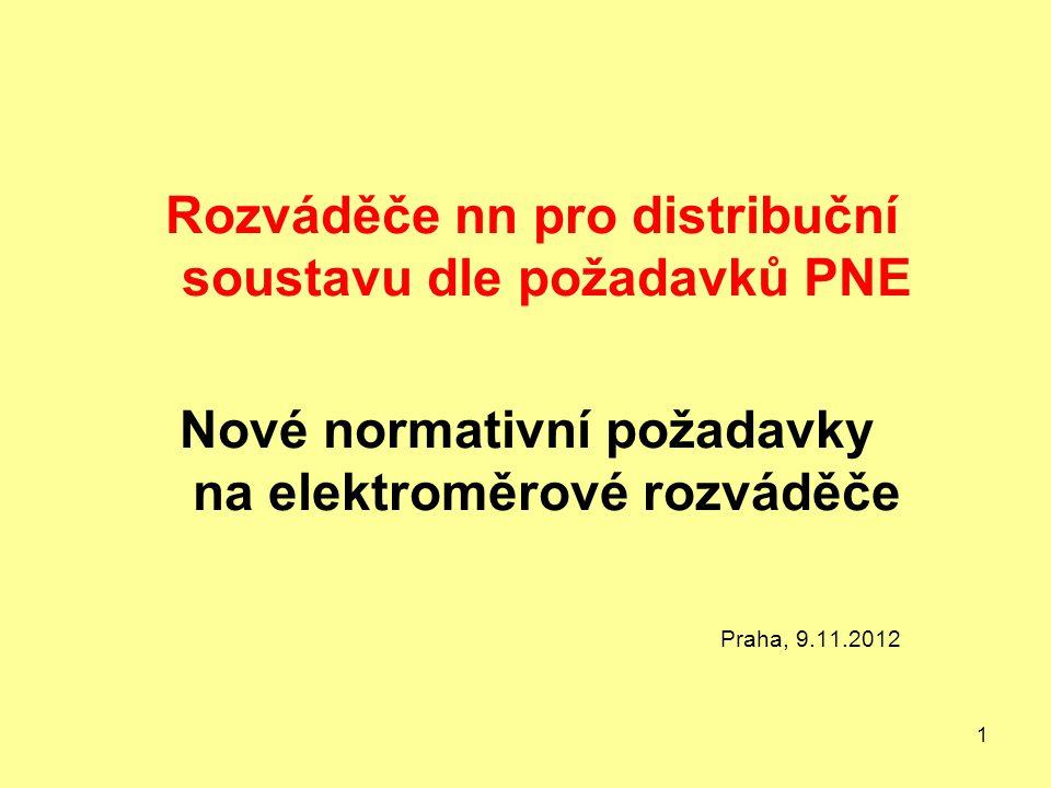 Nové normativní požadavky na elektroměrové rozváděče