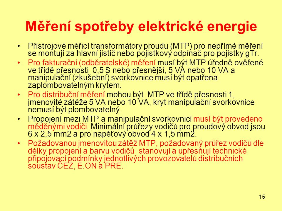 Měření spotřeby elektrické energie