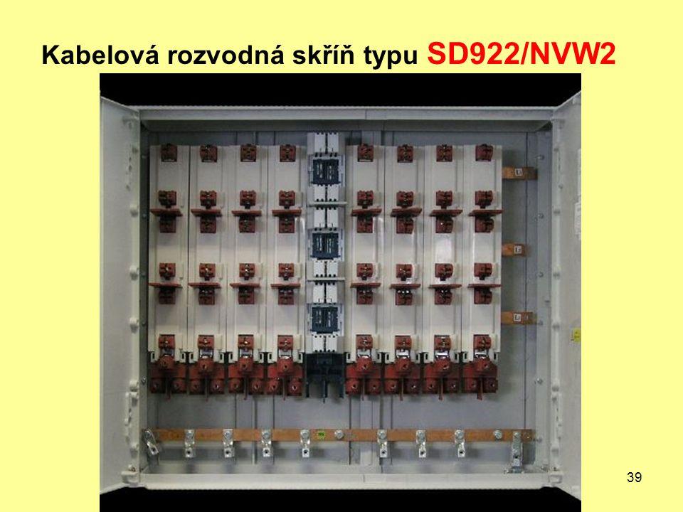 Kabelová rozvodná skříň typu SD922/NVW2