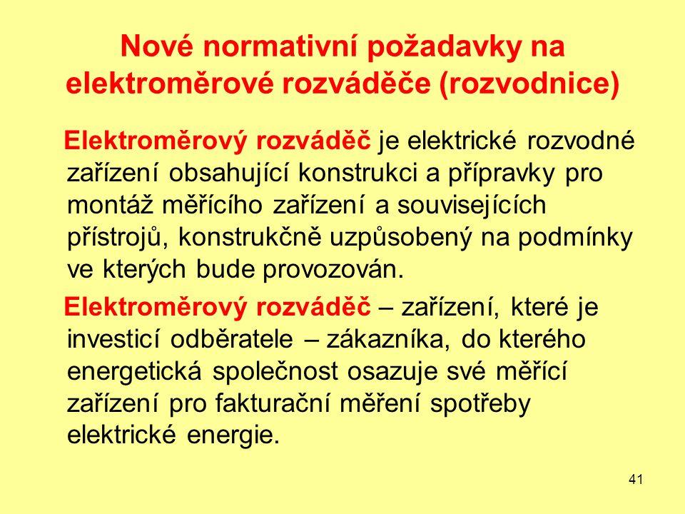 Nové normativní požadavky na elektroměrové rozváděče (rozvodnice)