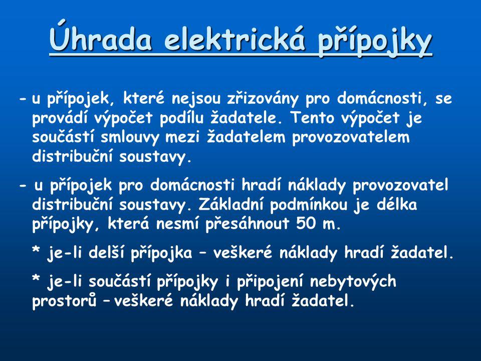Úhrada elektrická přípojky