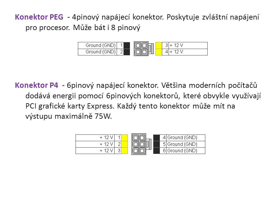 Konektor PEG - 4pinový napájecí konektor