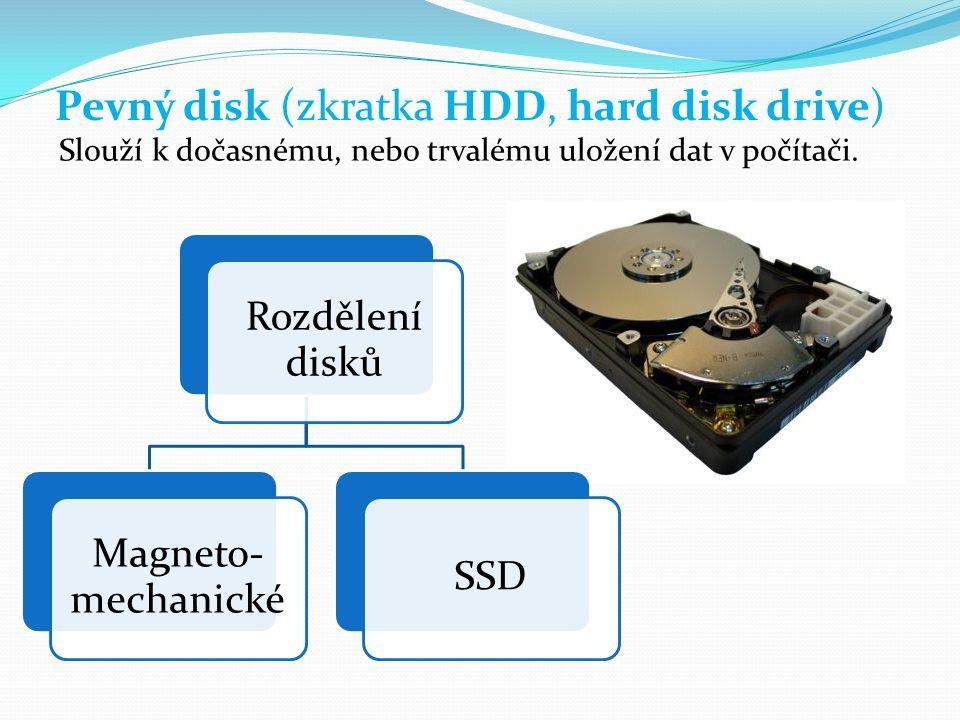 Pevný disk (zkratka HDD, hard disk drive)