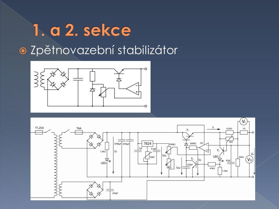 1. a 2. sekce Zpětnovazební stabilizátor
