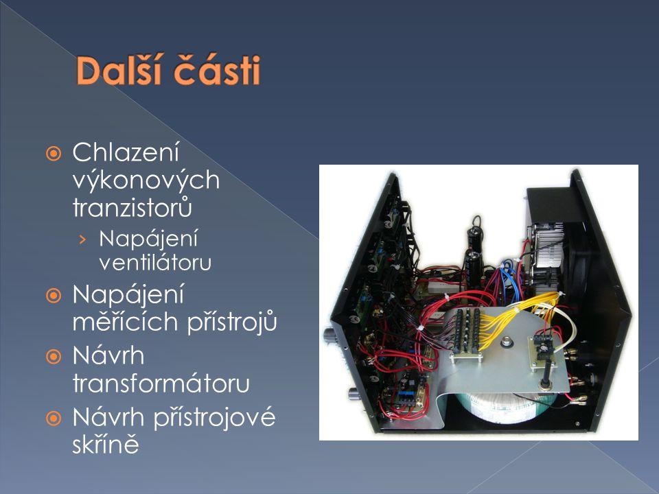 Další části Chlazení výkonových tranzistorů