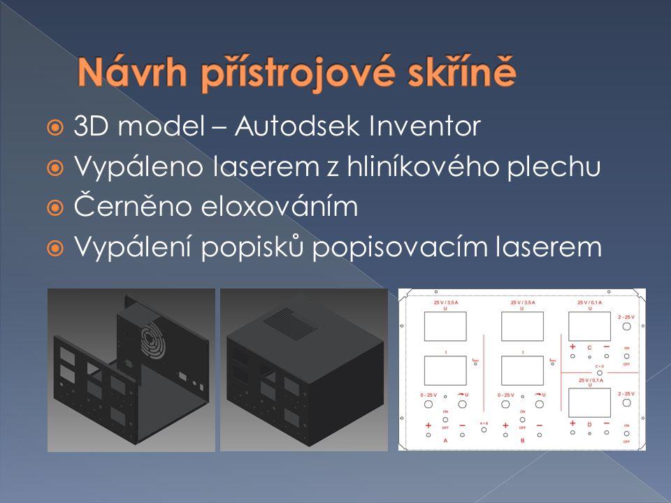 Návrh přístrojové skříně