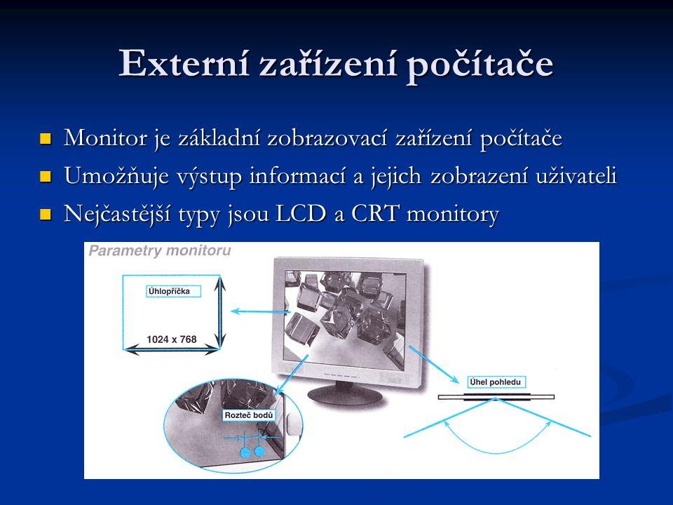 Externí zařízení počítače
