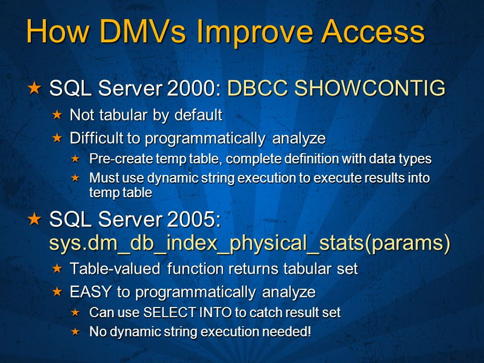 How DMVs Improve Access