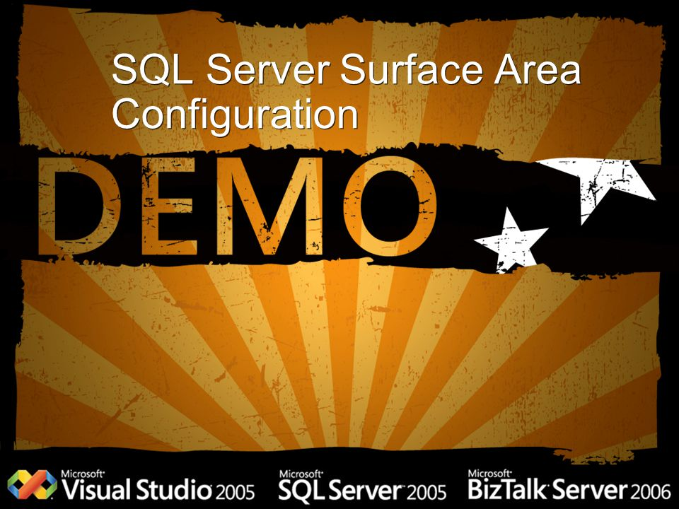 SQL Server Surface Area Configuration