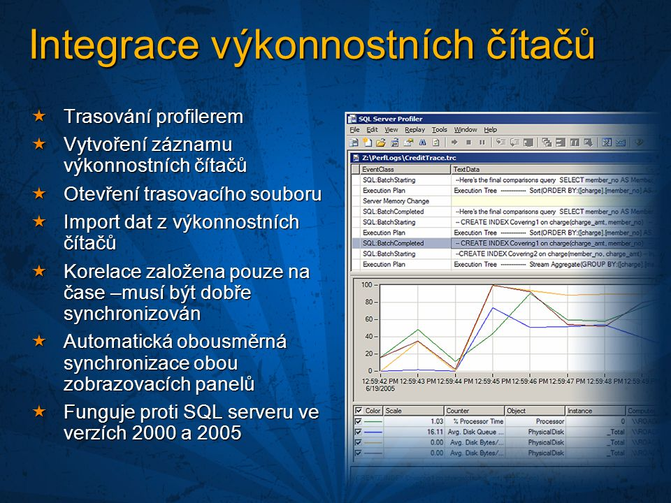 Integrace výkonnostních čítačů