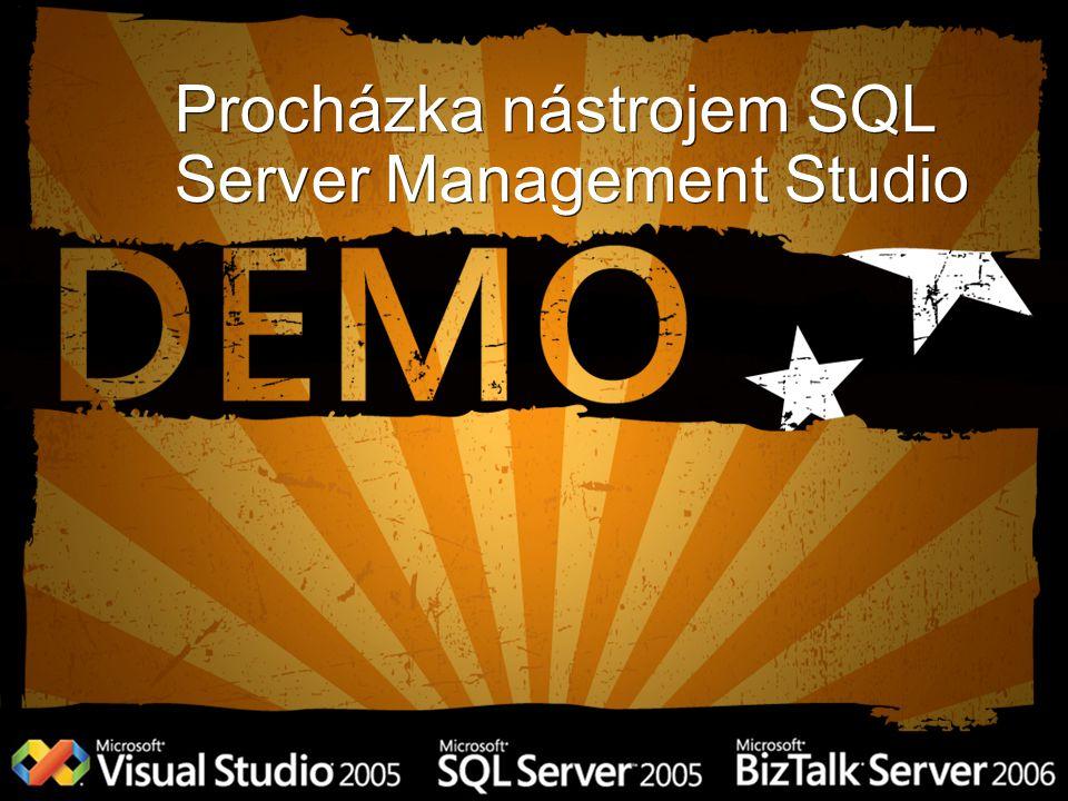 Procházka nástrojem SQL Server Management Studio