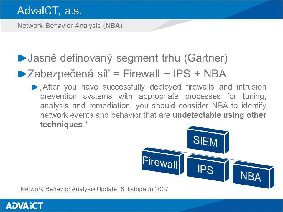 Jasně definovaný segment trhu (Gartner)