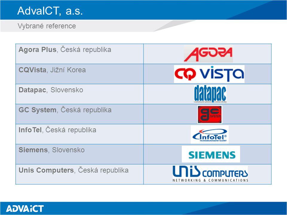 AdvaICT, a.s. Vybrané reference Agora Plus, Česká republika