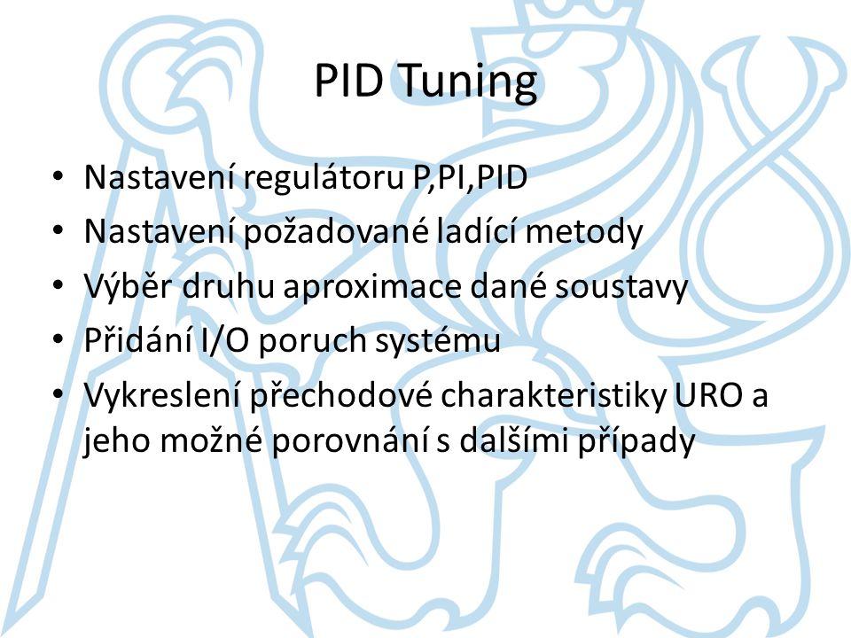 PID Tuning Nastavení regulátoru P,PI,PID