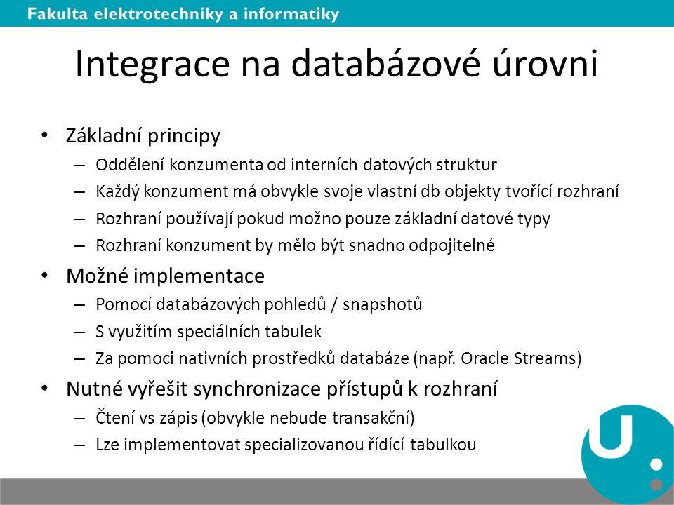 Integrace na databázové úrovni