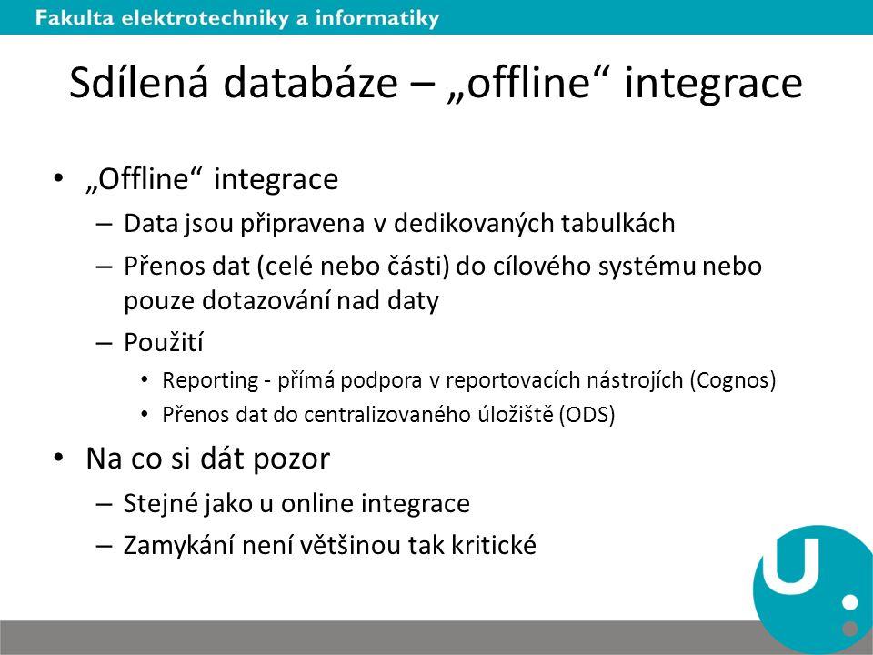 """Sdílená databáze – """"offline integrace"""