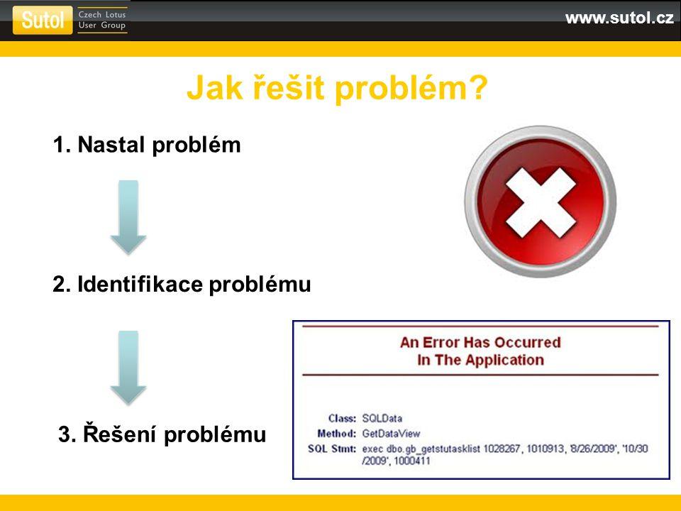 Jak řešit problém 1. Nastal problém 2. Identifikace problému