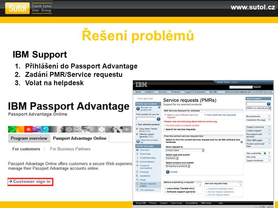 Řešení problémů IBM Support Přihlášení do Passport Advantage