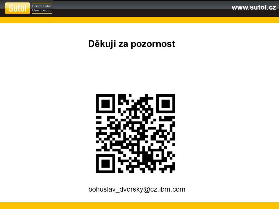 Děkuji za pozornost bohuslav_dvorsky@cz.ibm.com