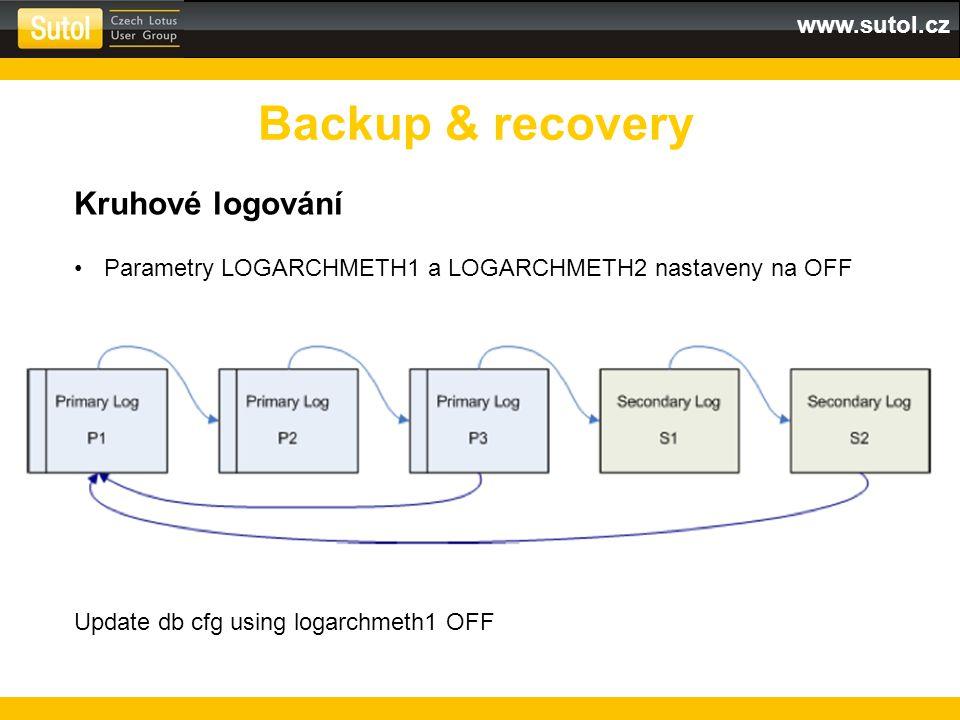 Backup & recovery Kruhové logování