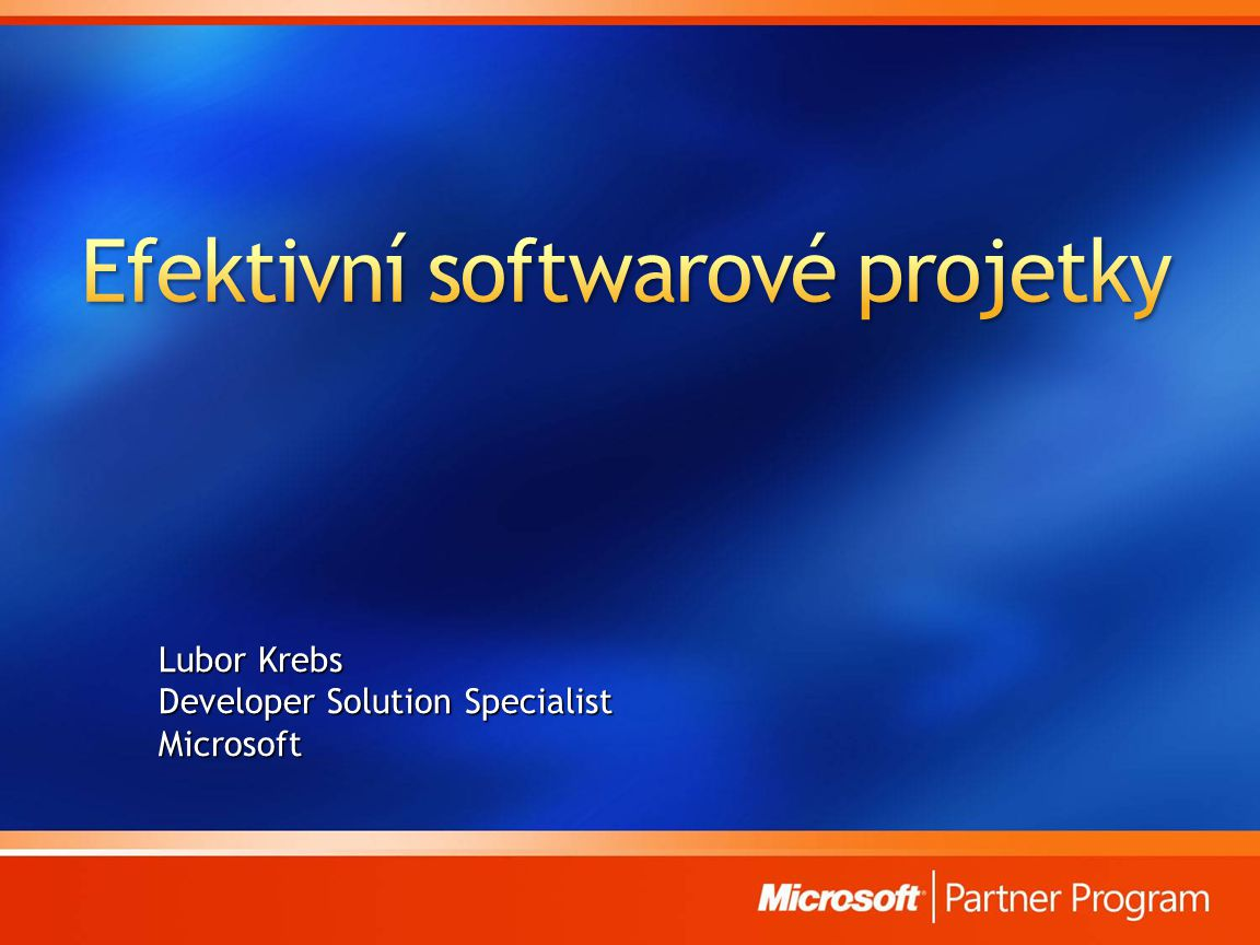 Efektivní softwarové projetky