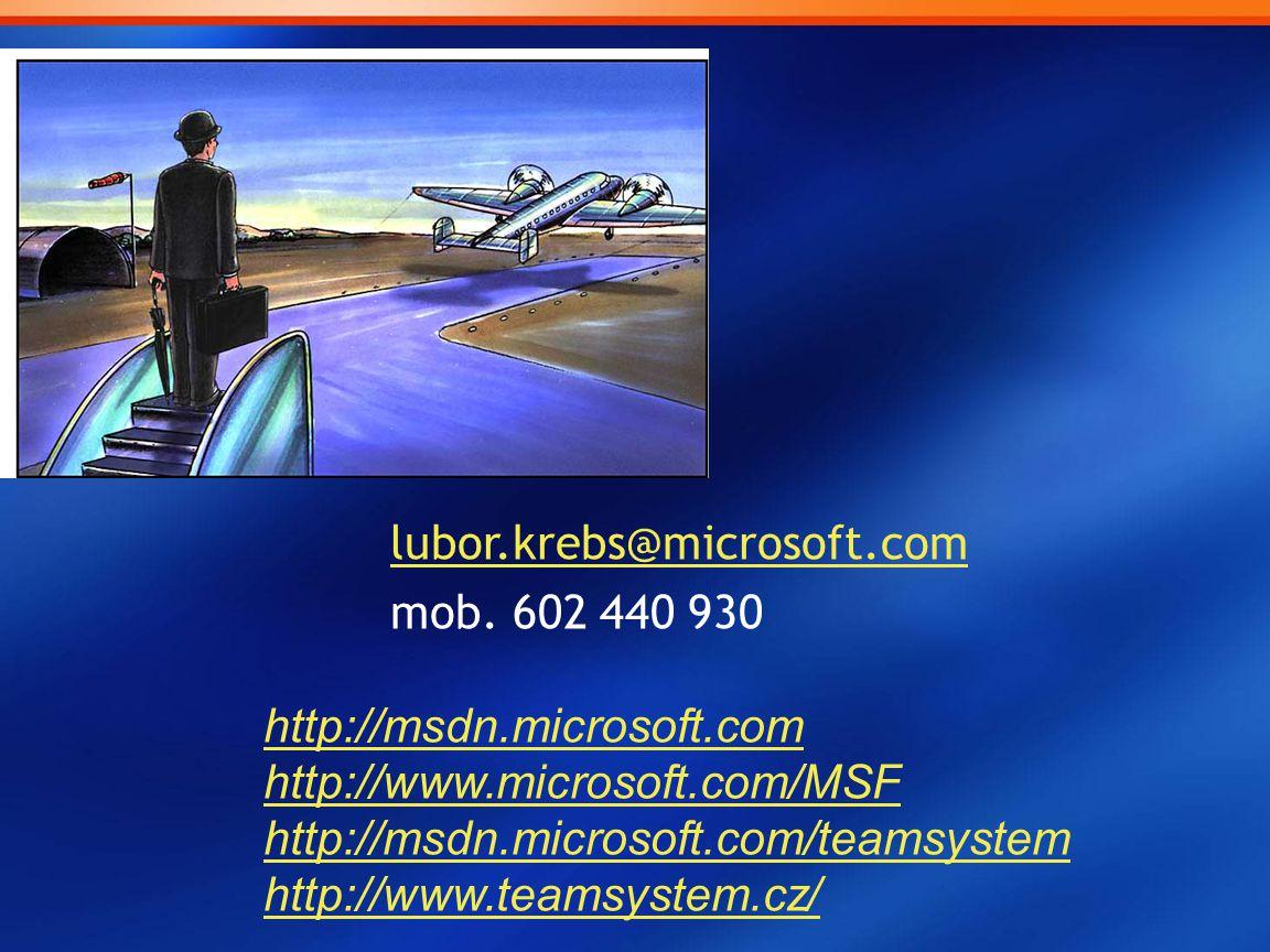 lubor.krebs@microsoft.com mob. 602 440 930 http://msdn.microsoft.com