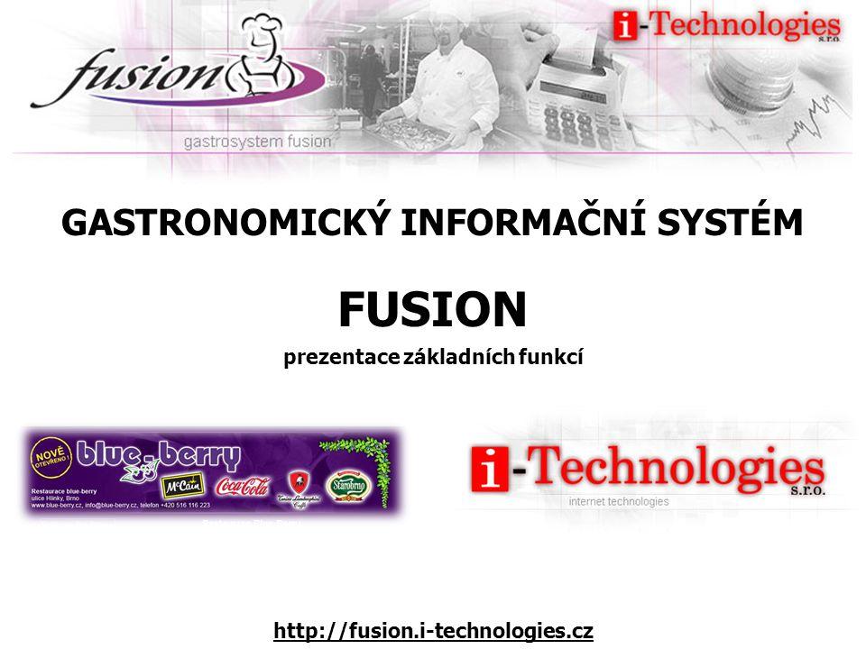 GASTRONOMICKÝ INFORMAČNÍ SYSTÉM prezentace základních funkcí