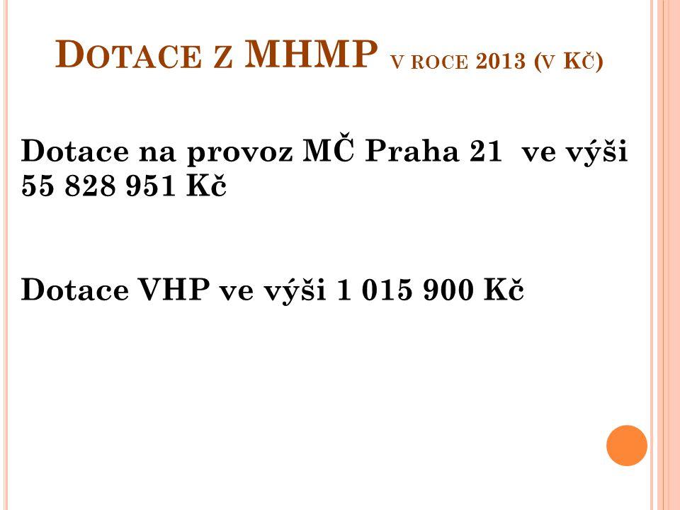 Dotace z MHMP v roce 2013 (v Kč)