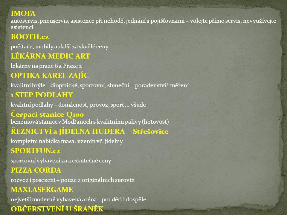 ŘEZNICTVÍ a JÍDELNA HUDERA - Střešovice SPORTFUN.cz PIZZA CORDA