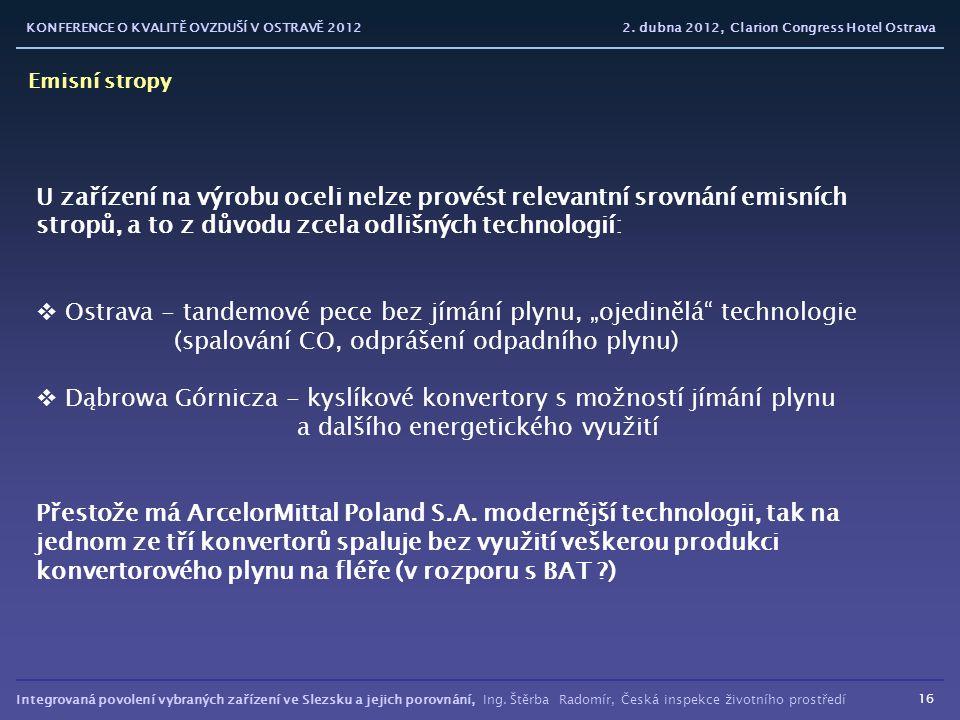 """Ostrava - tandemové pece bez jímání plynu, """"ojedinělá technologie"""
