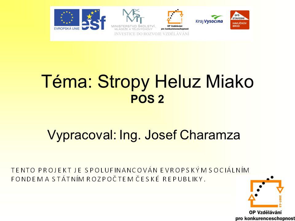 Téma: Stropy Heluz Miako POS 2