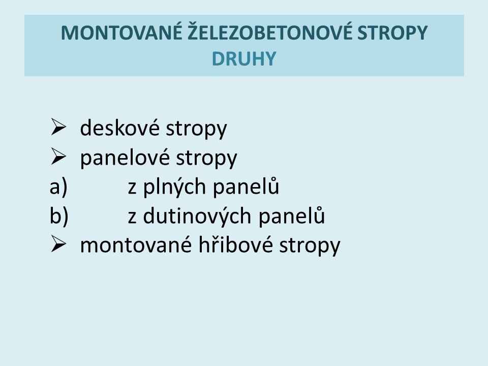 MONTOVANÉ ŽELEZOBETONOVÉ STROPY DRUHY