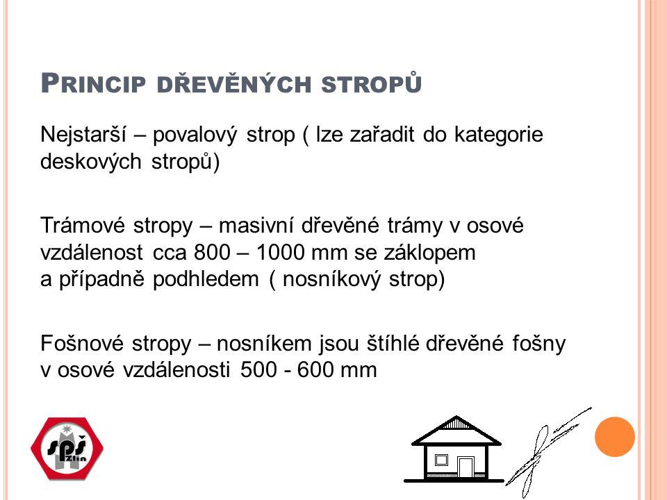 Princip dřevěných stropů